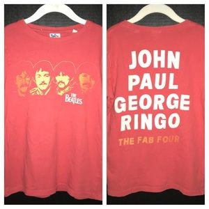 Beatles t-shirt, faces on front and names on back